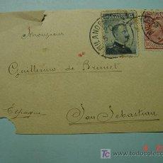 Sellos: 1105 ITALIA ITALY A SAN SEBASTIAN GUIPUZCOA FRONTAL CARTA CIRCULADA AÑO 1920 - COSAS&CURIOSAS. Lote 5602720