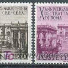 Sellos: UNIÓN EUROPEA, 10º ANIVERSARIO DEL TRATADO DE ROMA, IVERT Nº 961/2, SELLOS NUEVOS ***. Lote 6964584