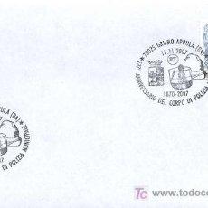 Sellos: ITALIA 2007.- MATASELLO ESPECIAL.- ANIVERSARIO DEL CUERPO DE POLICIA LOCAL MUNICIPAL DE GRUMO APPULA. Lote 6979378