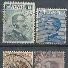 Sellos: VICTOR MANUEL III, AÑO 1906, IVERT Nº 78/81 USADOS. Lote 7558079