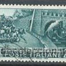 Sellos: 50 AÑOS DEL TUNEL DE SINPLON, AÑO 1956, IVERT Nº 724 USADOS. Lote 7558166