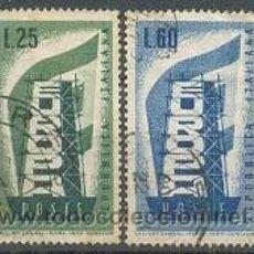 Sellos: EUROPA, AÑO 1956, IVERT Nº 731/2 USADOS. Lote 7558256