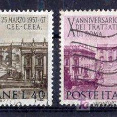 Sellos: ITALIA 1967. 10 ANIVERSARIO DEL TRATADO DE ROMA. Lote 8432210