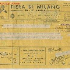 Sellos: TELEGRAMA ITALIANO CON PUBLICIDAD DE FECHA 21-4-1937 CON DESTINO EN DUNKERKE.. Lote 21544978