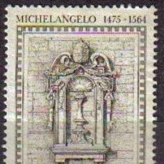 Sellos: ITALIA 1975 SCOTT 1181 SELLO º ARTE MICHELANGELO MIGUEL ANGEL NICHO EN PALACIO DEL VATICANO 50L ITAL. Lote 10312548