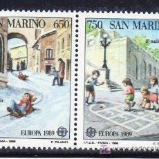 Sellos: SAN MARINO 1204/5 SIN CHARNELA, TEMA EUROPA, JUEGOS INFANTILES, . Lote 17615368