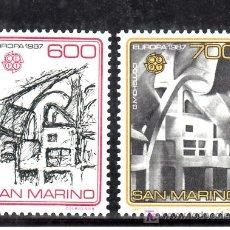 Sellos: SAN MARINO 1148/9 SIN CHARNELA, TEMA EUROPA, ARQUITECTURA MODERNA, . Lote 19326969