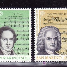 Sellos: SAN MARINO 1107/8 SIN CHARNELA, TEMA EUROPA, AÑO INTERNACIONAL DE LA MUSICA, COMPOSITORES ILUSTRES . Lote 19867113