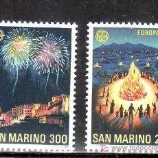 Sellos: SAN MARINO 1024/5 SIN CHARNELA, TEMA EUROPA, FOLKLORE, FIESTAS, . Lote 14209951