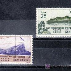 Sellos: SAN MARINO A 98/9 CON CHARNELA, ESTUDIO FOTOGRAMÉTRICO DE SAN MARINO. Lote 17615372