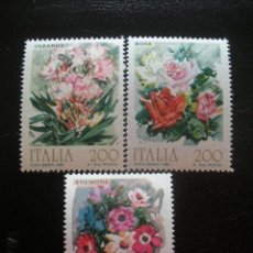 Sellos: ITALIA 1981 IVERT 1477/9 *** FLORES ORNAMENTALES - FLORA. Lote 122171838