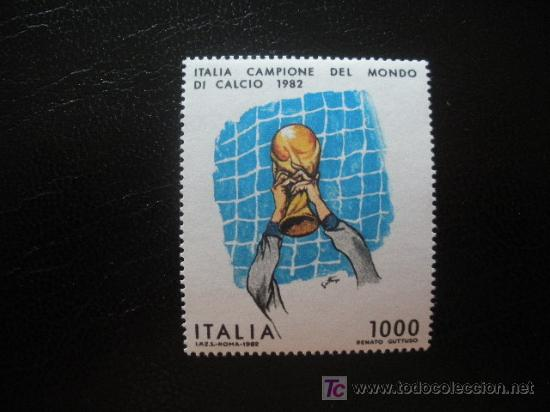 ITALIA 1982 IVERT 1542 *** ITALIA CAMPEÓN DEL MUNDO DE FUTBOL ESPAÑA 1982 - DEPORTES (Sellos - Extranjero - Europa - Italia)