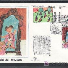 Sellos: ITALIA 1810/2 PRIMER DIA, TEMA EUROPA, JUEGOS DE NIÑOS, . Lote 25249359