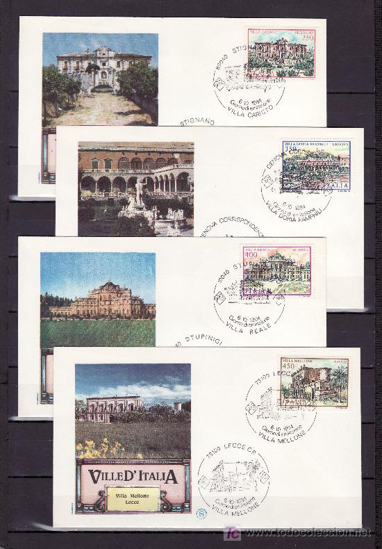 ITALIA 1630/3 PRIMER DIA, PATRIMONIO CIUDADES DE ITALIA, (Sellos - Extranjero - Europa - Italia)
