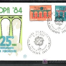 Sellos: ITALIA 1618/9 PRIMER DIA, TEMA EUROPA, 25º ANIVERSARIO DE LA CONFERENCIA EUROPEA, . Lote 20004253