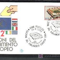Sellos: ITALIA 1610 PRIMER DIA, PARLAMENTO EUROPEO, . Lote 85170075