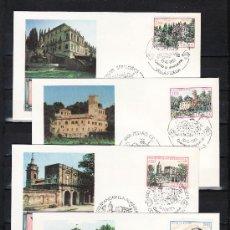 Sellos: ITALIA 1588/91 PRIMER DIA, PATRIMONIO CIUDADES DE ITALIA,. Lote 199034177