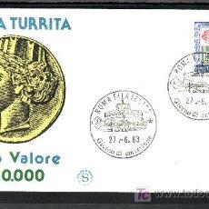 Sellos: ITALIA 1581 PRIMER DIA, SERIE BASICA VALOR ALTO. Lote 20066938