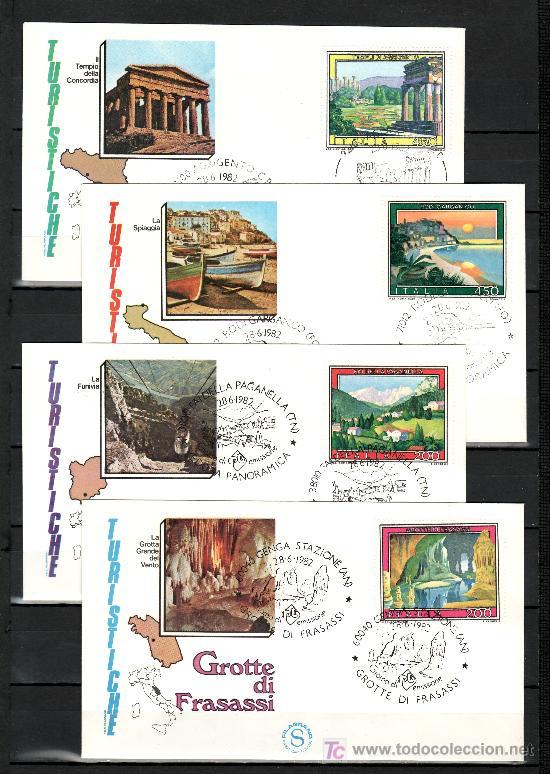 ITALIA 1536/9 PRIMER DIA, TURISMO, VISTAS, (Sellos - Extranjero - Europa - Italia)