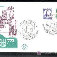 Sellos: ITALIA 1501/2 PRIMER DIA, CASTILLOS DE LUCERA Y MELFI . Lote 20128771
