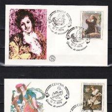Sellos: ITALIA 1353/4 PRIMER DIA, PINTURA, ARTE ITALIANO, . Lote 25135592