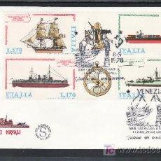 Sellos: ITALIA 1341/4 PRIMER DIA, BARCO, CONSTRUCIONES NAVALES, . Lote 25891935