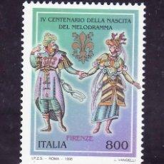 Sellos: ITALIA 2288 SIN CHARNELA, 400º ANIVERSARIO DEL MELODRAMA . Lote 18077142
