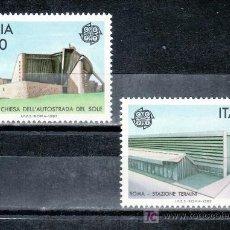 Sellos: ITALIA 1742/3 SIN CHARNELA, TEMA EUROPA, ARQUITECTURA MODERNA, . Lote 18119110
