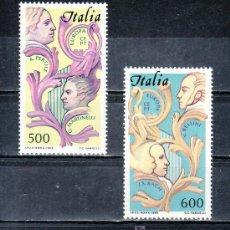 Sellos: ITALIA 1664/5 SIN CHARNELA, TEMA EUROPA, AÑO EUROPEO DE LA MUSICA, . Lote 18121972