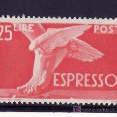 Sellos: ITALIA URGENTE 30 CON CHARNELA, PIE ALADO. Lote 22650283