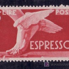 Sellos: ITALIA URGENTE 27 SIN CHARNELA, PIE ALADO. Lote 278604063