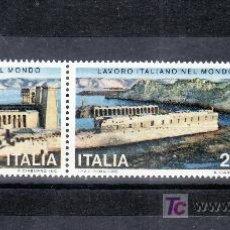 Sellos: ITALIA 1421/2 SIN CHARNELA, LOGROS ITALIANOS EN EL MUNDO, RECUPERACION DEL TEMPLO PHILAC. Lote 177607963