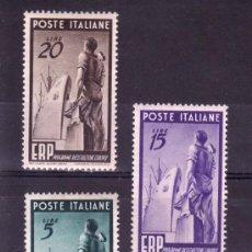 Sellos: ITALIA 539/41 CON CHARNELA, PROGRAMA DE RECONSTRUCCION DE EUROPA . Lote 21382970