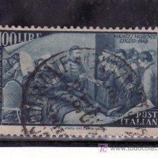 Sellos: ITALIA 529 USADA, CENTENARIO DEL RESURGIMIENTO. Lote 18628617