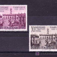 Sellos: ITALIA 961/2 SIN CHARNELA, 10º ANIVERSARIO DEL TRATADO DE ROMA PARA LA COMUNIDAD EUROPEA. Lote 18455592