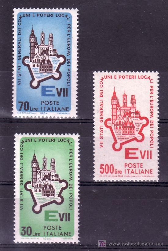 ITALIA 909/11 SIN CHARNELA, 7ª REUNION ESTADOS GENERALES DE MUNICIPIOS Y REGIONES EN ROMA (Sellos - Extranjero - Europa - Italia)