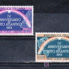 Sellos: ITALIA 660/1 CON CHARNELA, 4º ANIVERSARIO DE LA FIRMA DEL PACTO ATLANTICO, . Lote 18542819