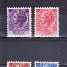 Sellos: ITALIA 652/5 CON CHARNELA, MONEDAS SIRACUSA. Lote 18543274