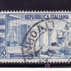 Sellos: ITALIA 623 USADA, BARCO, 30º FERIA DE MILAN, PABELLON MOTONAUTICO, . Lote 18560839