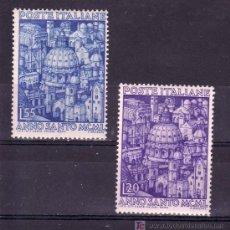 Sellos: ITALIA 558/9 CON CHARNELA, AÑO SANTO, VISTAS DE LAS IGLESIAS DE ROMA. Lote 18611889