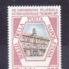 Sellos: ITALIA 1417 SIN CHARNELA, 20º EXPOSICION FILATELICA INTERNACIONAL EUROPA 1980 EN NAPOLES. Lote 177608240