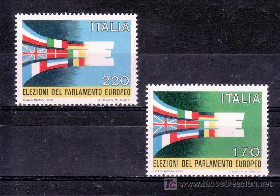 ITALIA 1391/2 SIN CHARNELA, ELECCIONES DEL PARLAMENTO EUROPEO (Sellos - Extranjero - Europa - Italia)
