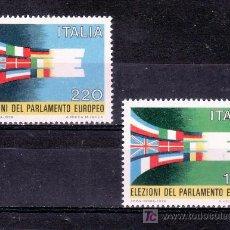 Sellos: ITALIA 1391/2 SIN CHARNELA, ELECCIONES DEL PARLAMENTO EUROPEO. Lote 177608122