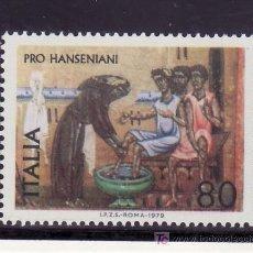 Sellos: ITALIA 1374 SIN CHARNELA, MEDICINA, RELIGION, LUCHA CONTRA LA LEPRA, VIDA DE SAN FRANCISCO. Lote 177608193