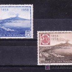 Sellos - san marino 459, a110 con charnela, centenario del sello de napoles, - 18835178