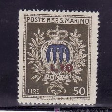 Sellos: SAN MARINO 277 CON CHARNELA, SOBRECARGADO. Lote 18838310