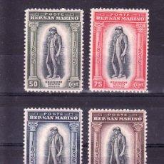Sellos: SAN MARINO 200/3 CON CHARNELA, CENTENARIO MUERTE DEL HISTORIADOR MELCHIOR DELFICO. Lote 18854289