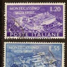 Sellos: ITALIA. YVERT 602-603. USADOS. MONTECASSINO. Lote 20712446