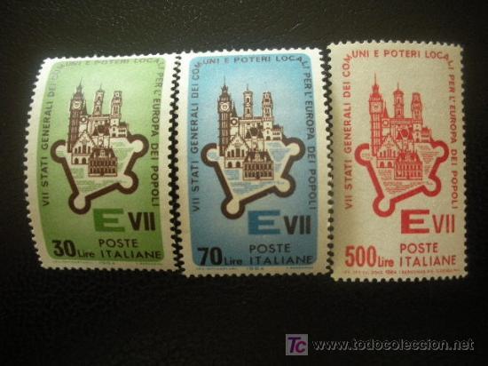 ITALIA 1964 IVERT 909/11 *** 7 REUNIÓN DE LOS ESTADOS DE LA COMUNIDA EUROPEA EN ROMA (Sellos - Extranjero - Europa - Italia)