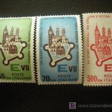 Sellos: ITALIA 1964 IVERT 909/11 *** 7 REUNIÓN DE LOS ESTADOS DE LA COMUNIDA EUROPEA EN ROMA. Lote 20939942